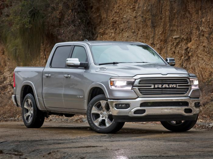 This image provided by Fiat Chrysler Automobiles shows the 2021 Ram 1500 Laramie