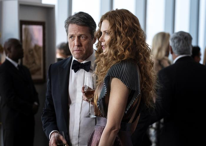 """Hugh Grant, left, and Nicole Kidman in a scene from """"The Undoing."""""""