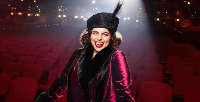 """Beanie Feldstein in a promotional photo for the upcoming """"Funny Girl"""" revival"""